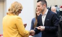 Świąteczne spotkanie marszałka Piotra Całbeckiego z dziennikarzami, fot. Andrzej Goiński