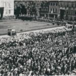 Uroczystości pogrzebowe na Starym Rynku w Bydgoszczy Archiwum Państwowe w Bydgoszczy