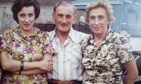Aleksandra z kuzynem Józefem i kuzynką Hanką