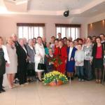 Helena Zaranek (w środku z kwiatami) z rodziną , fot. archiwum prywatne