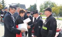 Uroczystość wręczenia sprzętu strażakom, Dobrcz, fot. Komenda Wojewódzka PSP w Toruniu