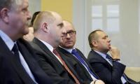 Prezentacja założeń rozbudowy Wojewódzkiego Szpitala Specjalistycznego we Włocławku podczas spotkania w Regionalnym Inkubatorze Przedsiębiorczości we Włocławku (9 marca), fot. Mikołaj Kuras