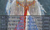 Elżbieta Wasyłyk, Epitafium dla Mieszka i Dobrawy, dyptyk pionowy, akryl, olej, płótno, 200 x 100, 2016; fot. z materiałów promocyjnych wystawy
