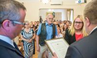 """Uroczysta gala konkursu """"Rodzynki z pozarządówki, fot. Szymon Zdziebło/Tarantoga.pl"""