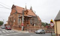Prace w kościele Znalezienia Krzyża w Radziejowie, fot. Mikołaj Kuras
