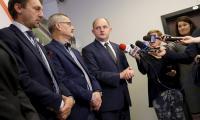 Konferencja prasowa marszałka województwa, kierownictwa Budimexu oraz prezesa KPIM i dyrektora WSZ, fot. Mikołaj Kuras