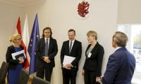 Spotkanie z przedstawicielami Nadrenii-Palatynatu w Urzędzie Marszałkowskim, Fot. Mikołaj Kuras