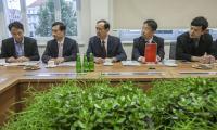 Spotkanie z gośćmi z Chin, fot. Andrzej Goiński